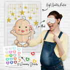 Pin the Dummy on the Baby Shower Party Game Games ~ Boy Girl Unisex