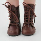 """Doll Shoes Vintage Brown Leather Boots Fit 18"""" American Girl Doll Brand New"""