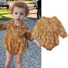Cotton Baby Girl Kids Clothes Long Sleeve Romper Bodysuit Playsuit Outfits USA