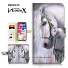 ( For iPhone XS MAX ) Wallet Case Cover P21142 White Princess Horse