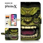 ( For iPhone XS MAX ) Wallet Case Cover P21160 Hulk