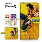 ( For iPhone XS MAX ) Wallet Case Cover P21433 One Piece Luffy