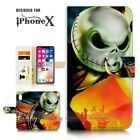 ( For iPhone XR ) Wallet Case Cover P21406 Nightmare Christmas