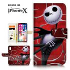 ( For iPhone XR ) Wallet Case Cover P21407 Nightmare Christmas