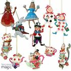 Gisela Graham Resin Alice Wonderland Hanging Christmas Tree Ornament Decoration