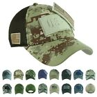 USA American US Flag Baseball Cap Army Camo Military Tactical  Mesh Trucker Hat