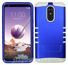 For LG Stylo 4 2018 - KoolKase Hybrid Silicone Cover Case - Blue (R)
