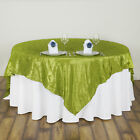 """72"""" Square Pintuck Fancy Unique TABLE OVERLAY Wedding Party Linens Supplies SALE"""