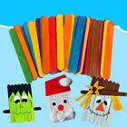 Hand Crafts DIY Art Ice Cream Stick Popsicle Sticks Colored Wooden Cake Tools