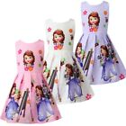 Внешний вид - Girls Skater Dress Kids Sofia The First  Print  Casual Party Birthday Dress L24