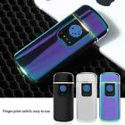 USB Rechargeable Fingerprint Touch Plasma Electric Lighter Windproof Flameless k