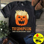 Trumpkin Make Halloween Great Again Funny Trump Shirt Black Cotton Men S-3XL