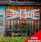 TRIUMPH Banner Vinyl or Canvas Advertising Garage Sign Flag Poster MANY SIZES $30.05 USD on eBay
