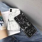 For iPhone X XS Max Xr 8 Luxury Silver Foil Bling Marble TPU Glitter Phone Case