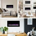 """36"""" Electric Fireplace Best Wall Décor Faux Wide Hanging Heater Kit Indoor Set"""