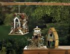 Birdhouses For Outdoors Rustic Bird Feeder Small House Wild Perch Yard Free Gift
