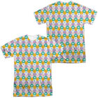Authentic Adventure Time Hexagon Pattern Cartoon Network Front Back T-shirt top