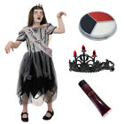 GIRLS HALLOWEEN FANCY DRESS COSTUME KILLER SCARY KIDS OUTFIT S M L XL CHILDS