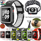 For Apple Watch Band With Case, Soft Silicone Sport Strap IWatch 38MM/42MM image