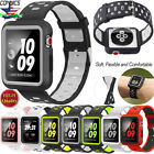 For Apple Watch Band With Case, Soft Silicone Sport Strap iWatch Band 38mm/42MM