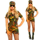 Camo Ladies Army Soldier Girl Cosplay Costume Captain Commando Combat Outfit