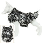 Pet Life 'Paw-Dropping' Gray-Scale Tiger Patterned Mink Fur Dog Coat Jacket