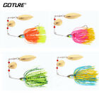 4pcs/lot Spinnerbaits Fishing Lures Buzzbait Blade Skirts Pike Bass Crankbaits