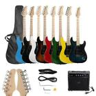 New 8 ColorsFull Size Electric Guitar w/ Amp Case and Accessories Pack Beginner