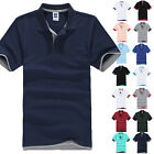 Men Summer Short Sleeve Polo Shirt Golf Classic Casual Tops Blouse T-shirt M-3XL