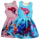 Girl Christmas Princess Poppy Trolls Sleeveless Party Holiday Birthday Dress O32 image
