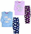 Girls Pyjama Set Kids Sleepwear New Soft Fleece Cosy PJs Lilac Ages 5 - 13 Years