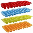 UK NEW Ice Cube Tray Easy Pop out Maker Silicone Plastic Top Mould 21 Jelly