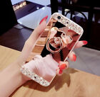Luxury Mirror Phone Cover Shell For iPhone 6 7 8 Plus X Case With POP Up Holder