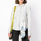 Off White Handkerchief Detail Striped Shirt Size XS M Virgil Abloh Women New Aut