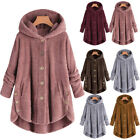 Women Winter Warm Fluffy Coat Overcoat Button Jacket Tops Outwear Loose Sweater