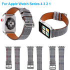 Houndstooth Pattern Leather Watch Band For Apple Watch Series 4 3  40mm 44mm New