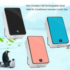 New Car Office Mini USB Rechargeable Hand Held Air Conditioner Summer Cool Fan