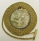 """14K SOLID YELLOW GOLD ROPE NECKLACA 24""""/ 1.68MM"""
