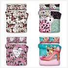 3D High-heeled Shoe Girl Bedding Set Red Lips Duvet Cover Quilt Cover Pillowcase image