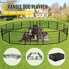 24Inch Tall Dog Playpen Large Crate Fence Pet Play Pen Exercise Cage 16Panels