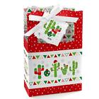 Christmas Cactus Xmas Gift Sack Stocking Merry Cactus Christmas Gift Bag 12 Pcs