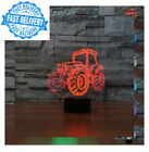 New 3D Tractor Night Light 7 Color Change LED Table Lamp Kids Decor Gift...