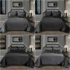 Chezmoi Collection 3-Piece Modern Pattern Solid Velvet Quilt Set image