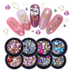 Nail Rhinestone Flat Back Mix Sized AB Color Nail Studs 3D Nail Art Decoration