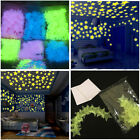50pc Kids Bedroom Ceilings Decor Glow In The Dark Snowflake Wall Stickers Stars