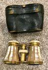 LEMAIRE FI PARIS Opera Glasses - Mother of Pearl & Brass w/Case and Bee Insignia