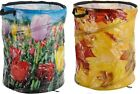 87 Litre Pop Up Garden Bag Wide Mouth 45cm Diameter 55cm High Tulips or Leaves