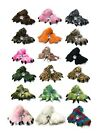 Wild Ones Furry Animal Claw Slippers for Toddlers, Kids and Adults image