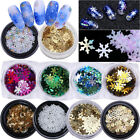 Christmas Snowflake Nail Art Glitter Sequins  3D Nail Decoration Nails Tips