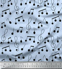 Soimoi Fabric Notes Musical Instrument Print Fabric by the Yard - MI-502C